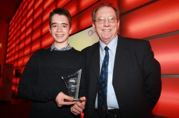 sports-award-winner-dominic-barter-being-presented-the-sports-award-by-andy-clarke-of-stocksbridge-leisure-centre
