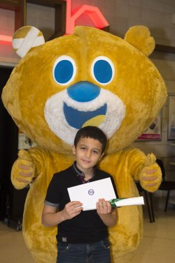 The Star Super Kids Awards Studio Theatre at The Crucible Jamal Oldfield and Theo the Bear