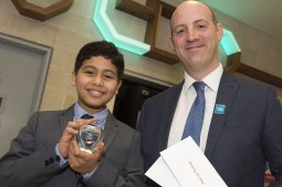 The Star Super Kids Awards Studio Theatre at The Crucible Osama Elamami who won the Enterprising Star award with Lee Greenwood from Crystal Peaks