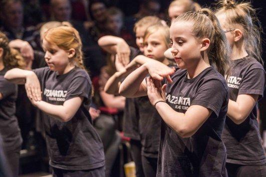 The Star Super Kids Awards Studio Theatre at The Crucible Razzamatazz Perform in the studio Theatre