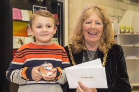 The Star Super Kids Awards Studio Theatre at The Crucible wonder Writer Paddy Newton with Lord Mayor Cllr Anne Murphy